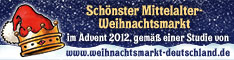 Auszeichnung:Schnster Mittelalter-Weihnachtsmarkt 2012