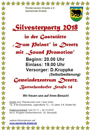 Silvesterparty in Dreetz