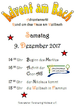 Weilbacher Adventsmarkt »Advent am Bach«
