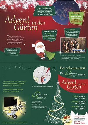 Advent in den Gärten