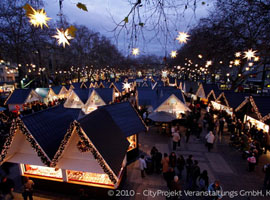Christmas Market on Neumarkt Square Cologne