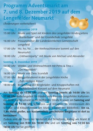 Adventsmarkt in Lengefeld