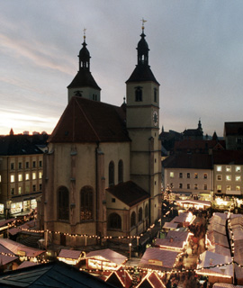 The Christmas Market in Regensburg, Germany.