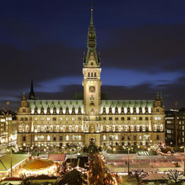 Historischer Weihnachtsmarkt auf dem Rathausmarkt