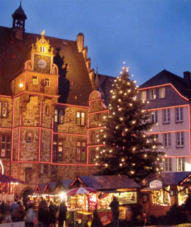Adventsmarkt in Marburg