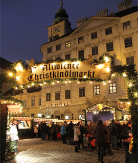 altwiener christkindlmarkt auf der freyung weihnachten 2017. Black Bedroom Furniture Sets. Home Design Ideas